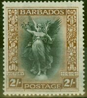 Barbados 1920 2s Black & Brown SG210w Crown to Left of CA Fine Very Lightly M...