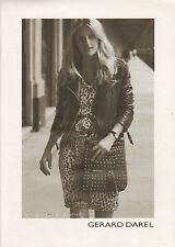 Publicité  2009  GERARD DAREL sac à main mode collection accessoire