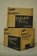 60 NEW SAMSUNG PLEOMAX DVD-R 4x 120MIN 4.7GB RECORDABLE DICS LOT, 2 CASES