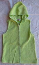 Storybook Heirlooms Hoodie Lime Green Sleeveless Zipper Front - Size Medium