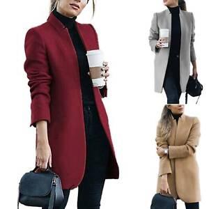 Women Open Front Trench Blazer Cardigan Coat Long Jacket Overcoat Outwear Tops