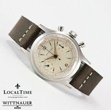 50's WITTNAUER Swiss by Longines Vintage Steel Chronograph Watch Venus Cal. 188