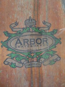 Vintage Arbor Pintail 46 Longboard Hawaiian Koa Wood!
