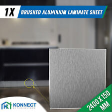 brushed aluminium laminate kickboard plinth 2.4  kick panel, cheap 200mm diy