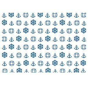 High Quality White/Blue Nautical Design Gift Wrapping Paper-Size A3 - GP264