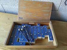 Xylophone marque sonor vintage complet dans sa boîte en bois