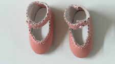 """Chaussures cuir """" Loulotte""""  37/17    Classique   Rose    pour poupées anciennes"""