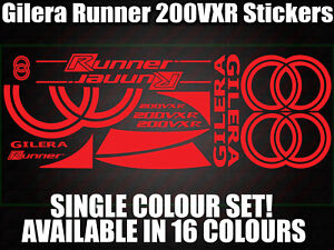Gilera Runner 200vxr Decals/Stickers-ALL COLOURS AVAILABLE- 172 183 GILLY