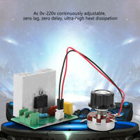 AC 0-220V 4000W 40A AC Motor Speed Controller Voltage Regulator LED Dimmers