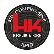 HECKLER& KOCH HK LOGO STICKER NO COMPROMISE VP9 VP40 MR556 P7 PSP P7M8 P7M10 USP