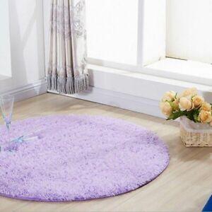 Floor Mat Customizable Modern Plush Round Carpet Soft Comfortable Solid Rug Tent