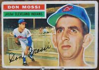 1956 Topps Baseball Card #39 Don Mossi, Cleveland Indians - VG