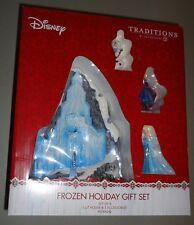 Dept 56 Disney FROZEN Holiday Gift Set 4 piece NIB Christmas LIT HOUSE CASTLE