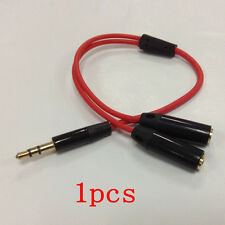 Standard 3.5mm Stereo Headphone Audio Male to 2 Female Y Splitter Cable Adapter