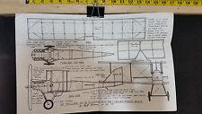 VINTAGE DE HAVILLAND DH-6 WWI PEANUT SCALE TRAINER  RUBBER POWERED *VG-COND*