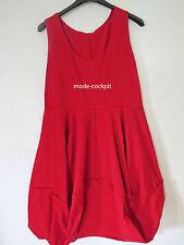 BORIS INDUSTRIES süßes Ballon Träger Kleid Lagenlook rot 46 (4)