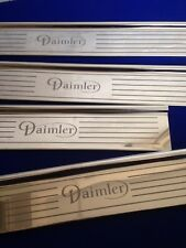 DAIMLER mk2 tread plates stainless door sills etched logo DAIMLER