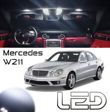 Mercedes Classe E W211 Kit 21 Ampoules led Blanc Plafonnier miroirs sols porte