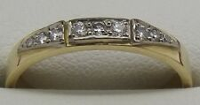 SOLID 18CT YELLOW GOLD NATURAL DIAMOND DRESS/ENGAGEMENT/WEDDING RING