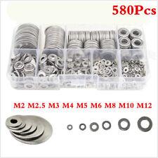 580X Stainless Steel Washers M2 M2.5 M3 M4 M5 M6 M8 M10 M12 Flat Washer Screw