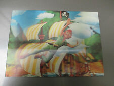1960's PETER PAN Post Card Hologram 3-D Lenticular FVF Walt Disney
