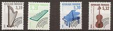 FRANCE 4 valeurs instrument de musique Timbres pré-oblitéré neufs  1992   190T2