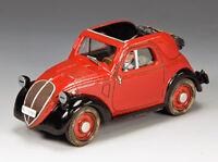 KING & COUNTRY WW2 GERMAN LW053 LUFTWAFFE FIAT 500A TOPOLINO MIB