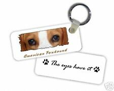 "American Foxhound "" The Eyes Have It "" Key Chain"