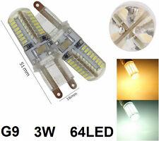 Lampadina LED G9,lampada luce calda o fredda.Bianco caldo,freddo,3W,g 9,220V, 64