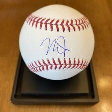 Mike Trout Signed Autographed Major League Baseball MLB COA Angels