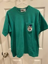 Vintage 1995 Looney Tunes Roadrunner and Coyote Pocket T Shirt Size M