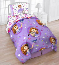 Sofia the First 4pc Twin Bedding Reversible Comforter, Sheet Set, Tote Sophia