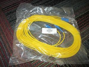 NEW CORNING ST/SC SINGLEMODE DUPLEX PVC FIBER PATCH CABLE 50 FEET YELLOW, NIP