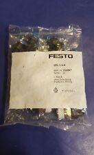 Festo 153047 Push-In L-Fittings QSL-1/4-6 pack of 10 per order