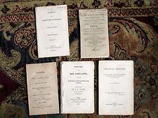 FIVE ORIGINAL 19th Century Booklets on CORN LAWS 1815, 1815, 1844, 1832, 1801