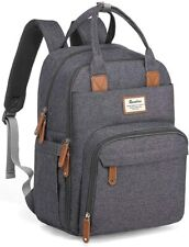 Changing Bag Backpack, Baby Diaper Nappy Back Pack with Dark Grey