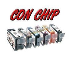 6 CARTUCCE PER CANON MG6150 MG8150 CLI-526GY  MG6250 MG8250 CON GRIGIO