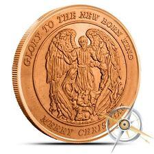 Christmas Angel 1 oz .999 Copper Round USA Made Holiday Season Bullion Coin