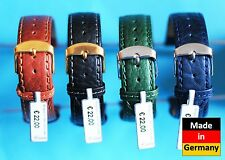 Bufalo Cinturino Nero Blu Braun Verde 16,18, 20,22 Fatto a Mano Made in Germany
