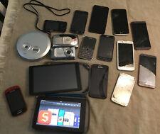Random Lot Of Electronics! Kindle Samsung Lg Tc Alcatel Phone Parts Canon Camera