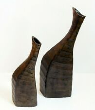 Decorative Ceramic Set of two Tall Vases - ( African Inspired )