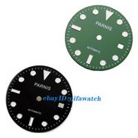 P583 Miyota 82 Movement 40mm Men Case Kit Parnis Green/Black  29.5mm Watch Dial