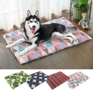 Soft Pet Cat Dog Bed Warm Cushion & Removable Cover for Labrador German shepherd