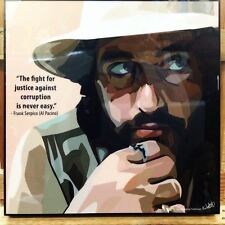 Frank Serpico Al Pacino canvas quotes wall decals photo painting pop art poster