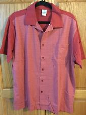 New Men's HABAND SS Shirt Button Front Pocket Size Large