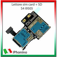 FLAT FLEX CAVO LETTORE SIM + MICRO SD CARD READER PER SAMSUNG GALAXY S4 i9505