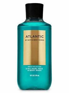 Bath and Body Works Men's ATLANTIC 3-IN-1 Hair Face Body Wash shower gel 10 oz