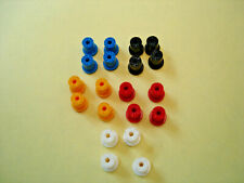 10 Pair Rear Tuff Ones H.O. Scale Reproduction Plastic Rims Assorted Colors