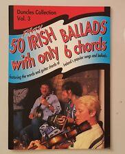 Duncles Collection v3 Play 50 IRISH BALLADS - Ireland Souvenir Travel Guide Book