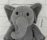 "Kohl's Cares Gray Grey Elephant 12"" Plush Stuffed Animal Big Ears Trunk Tail"